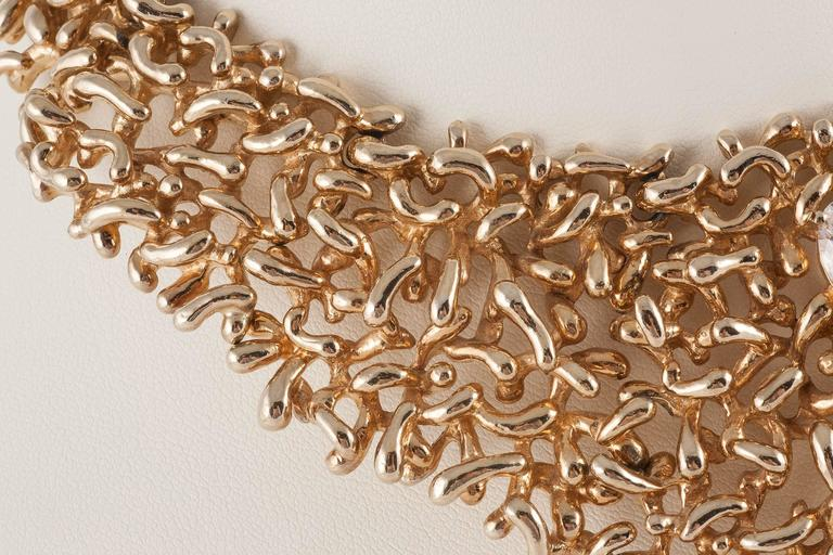 Wild organic 1970s bib necklace by Panetta USA In Excellent Condition For Sale In London, GB