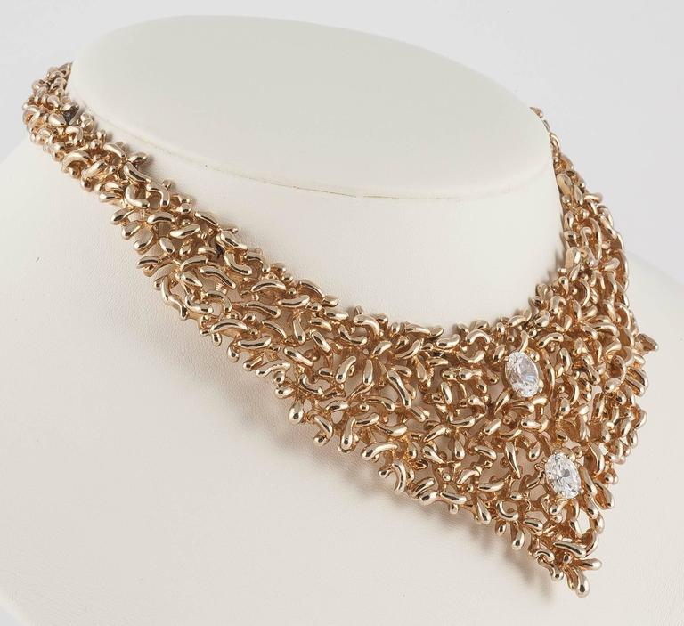 Wild organic 1970s bib necklace by Panetta USA 5