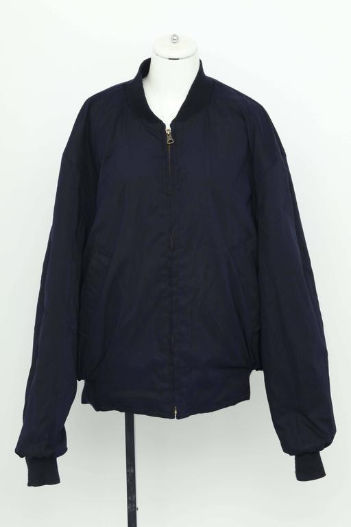 Hermes Reversible Silk Bomber Jacket Unisex 1990's 8