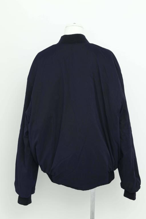 Hermes Reversible Silk Bomber Jacket Unisex 1990's 9