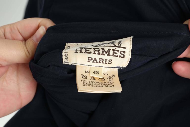 Hermes Reversible Silk Bomber Jacket Unisex 1990's 10