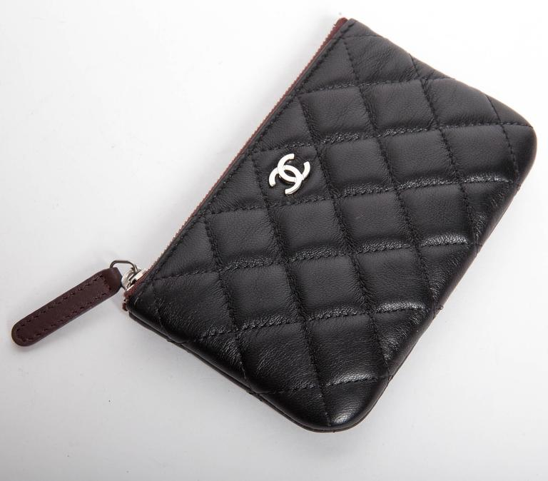 Chanel Top Zip Makeup Bag In New Never_worn Condition For Sale In Westhampton Beach, NY