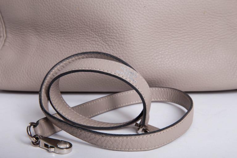 Hermes Etoupe Clemence Leather Palladium Hardware Kelly Bag For Sale 5