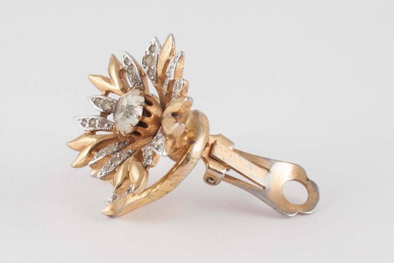 Rare Christian Dior 'en tremblant' earrings, 1950s 3