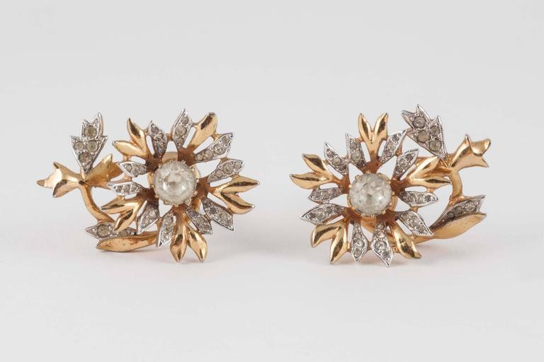 Rare Christian Dior 'en tremblant' earrings, 1950s 8