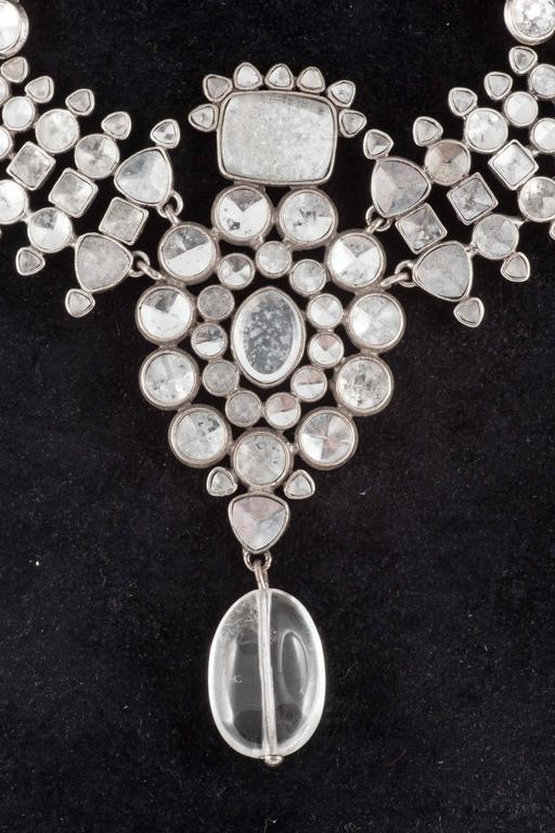 Majestic Moghul style necklace and matching drop earrings, Tom Ford for YSL 2