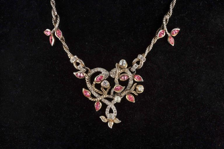 """Christian Dior by Mitchel Maer """"Entwined Heart"""" necklace and earrings  2"""