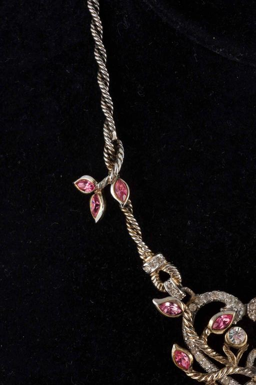 """Christian Dior by Mitchel Maer """"Entwined Heart"""" necklace and earrings  3"""