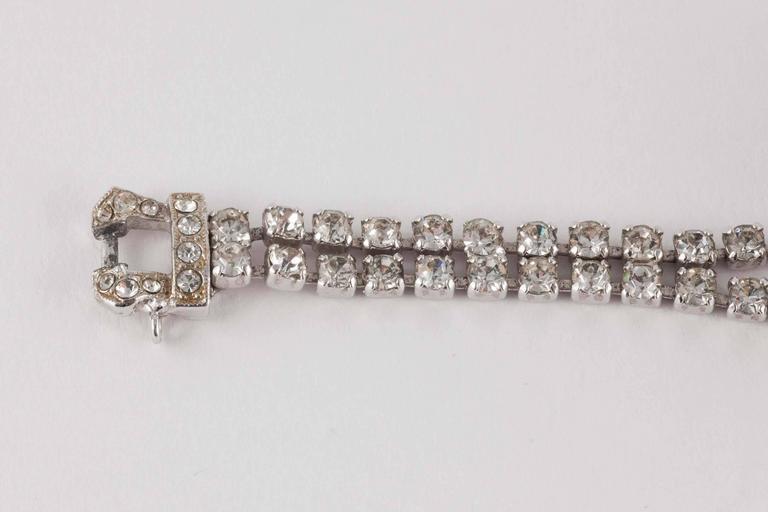 Rare paste 'en tremblant' flower bracelet by Christian Dior 2