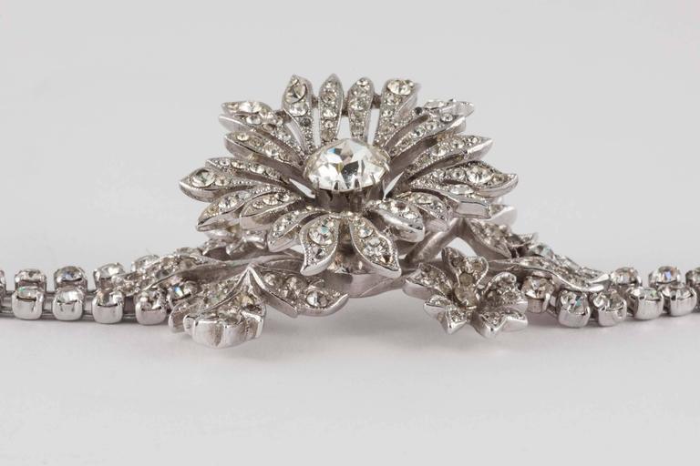 Rare paste 'en tremblant' flower bracelet by Christian Dior 3