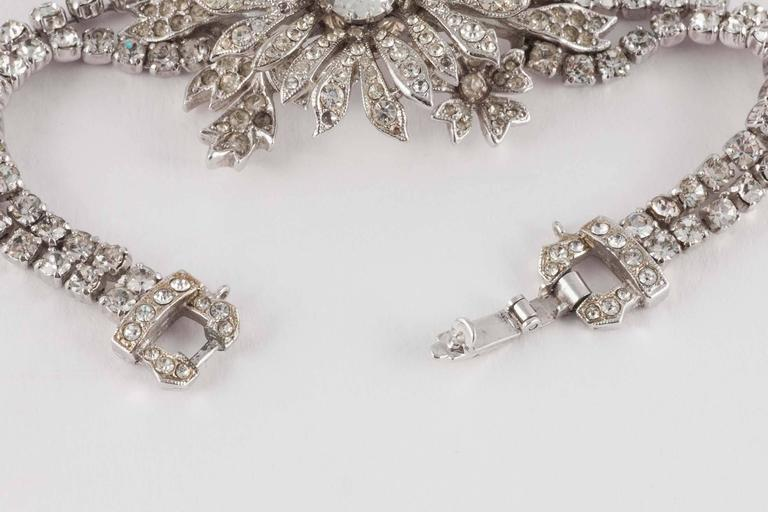 Rare paste 'en tremblant' flower bracelet by Christian Dior 4