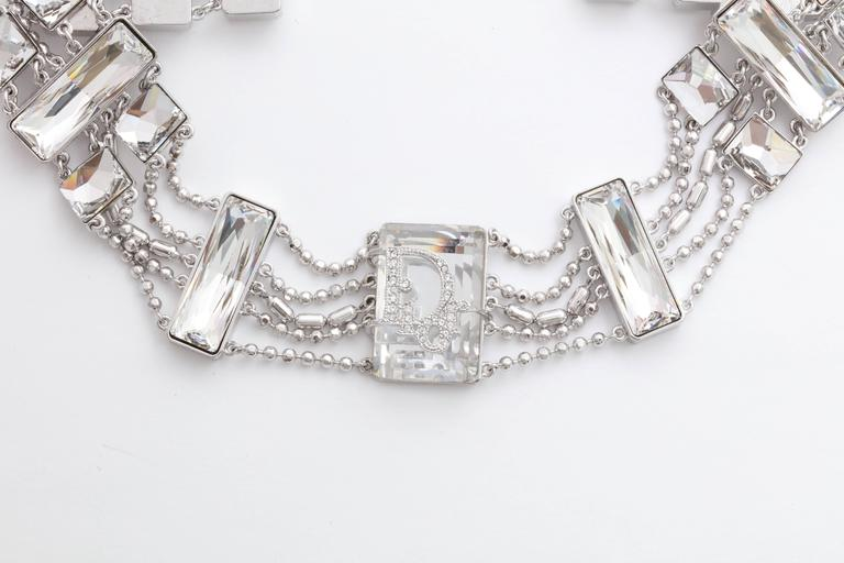 Extremely rare, beautiful Christian Dior choker with logo details on the crystal.