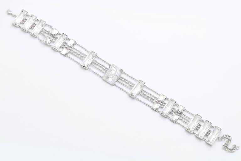 Extremely Rare Christian Dior Crystal Choker with Logos 3