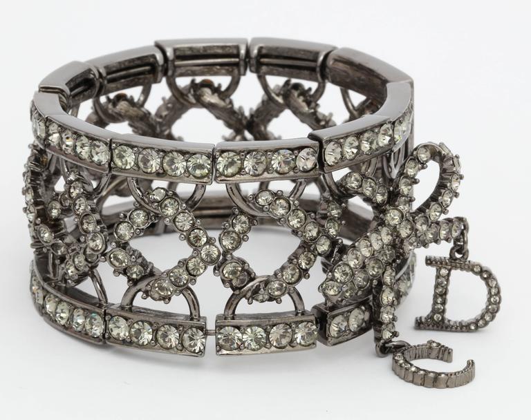 Christian Dior by John Galliano Rhinestone Bangle with Bow 3
