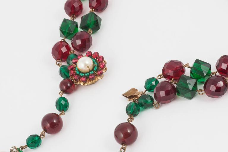 Exquisite Chanel handmade Moghul style necklace/sautoir by Maison Gripoix, 1930s For Sale 3