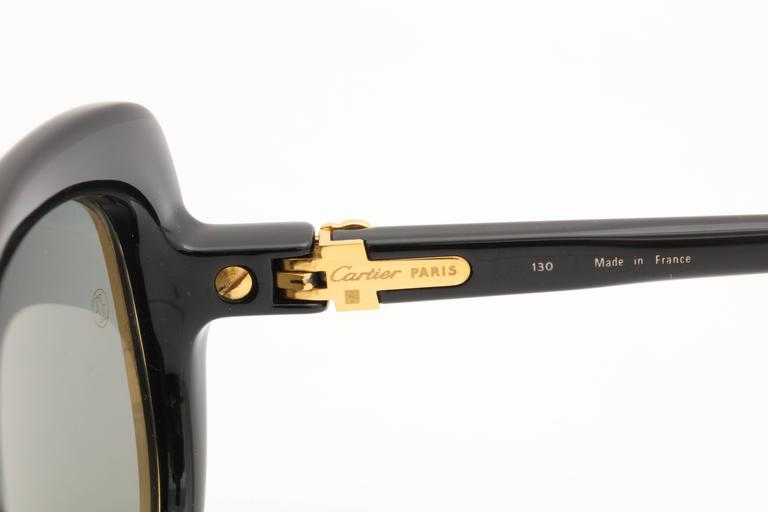 Women's or Men's Vintage Cartier Conquete Sunglasses For Sale