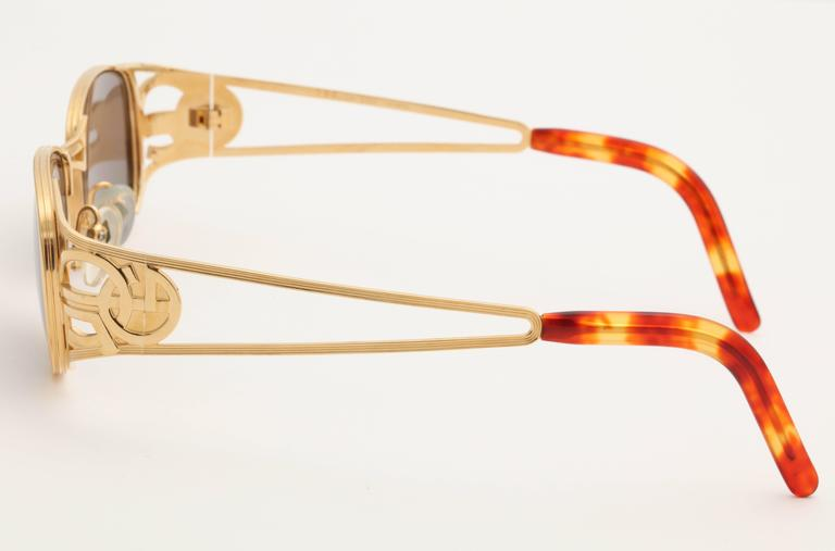 Gold vintage Jean Paul Gaultier Sunglasses 58-5101 2