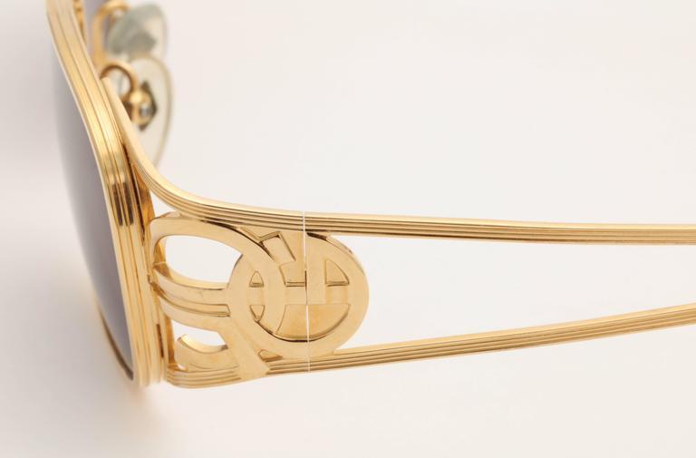 Gold vintage Jean Paul Gaultier Sunglasses 58-5101 3