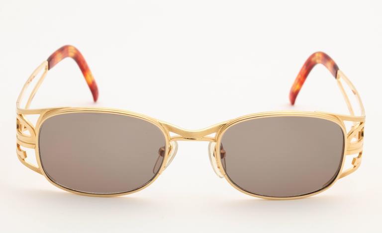 Gold vintage Jean Paul Gaultier Sunglasses 58-5101 5