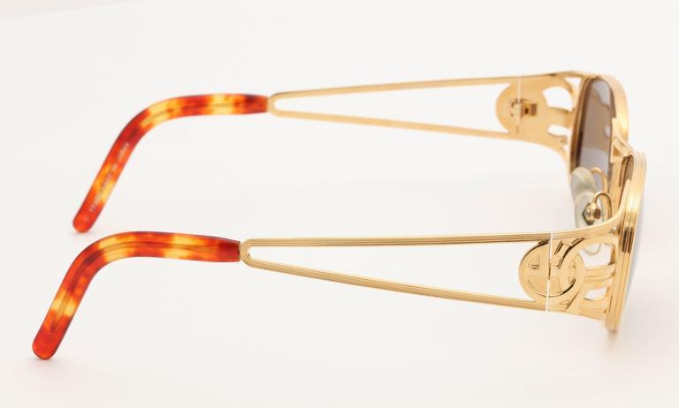Gold vintage Jean Paul Gaultier Sunglasses 58-5101 6