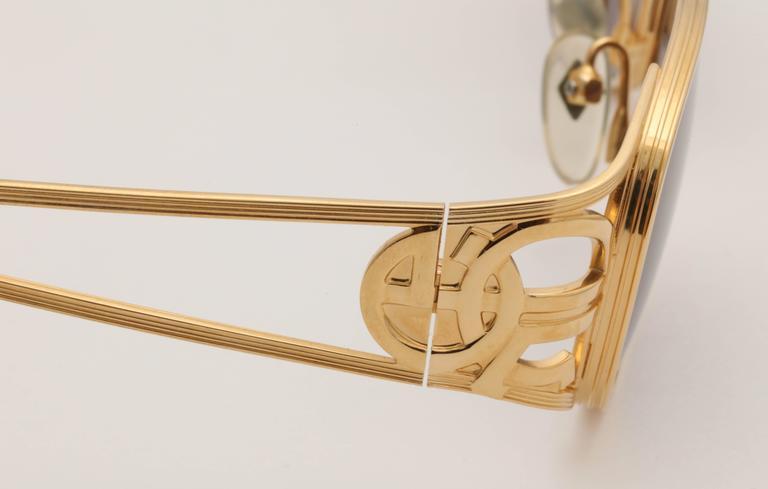 Gold vintage Jean Paul Gaultier Sunglasses 58-5101 7