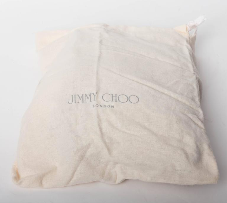 Jimmy Choo Gold and Tan Snakeskin Clutch with Horsebit Accents For Sale 5