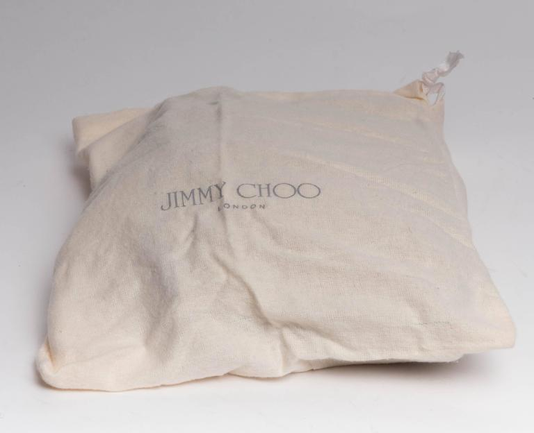 Jimmy Choo Gold and Tan Snakeskin Clutch with Horsebit Accents For Sale 6