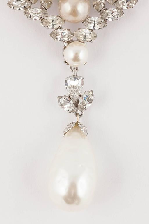 Baroque Christian Dior baroque pearl and clear paste brooch, dated 1961