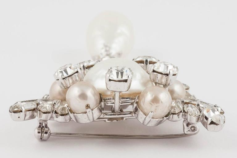 Women's Christian Dior baroque pearl and clear paste brooch, dated 1961