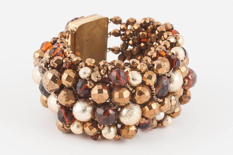 Women's Wide beaded bracelet by Coppola e Toppo, 1960s For Sale