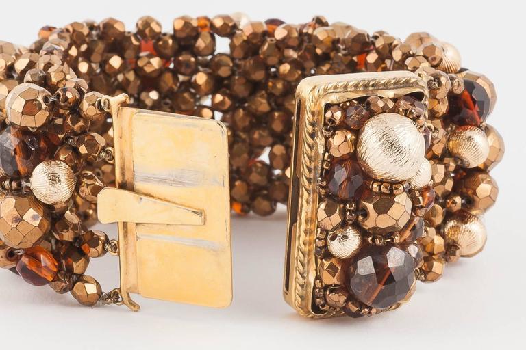 Wide beaded bracelet by Coppola e Toppo, 1960s For Sale 1