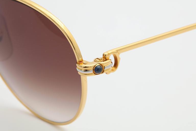 Vintage Cartier Sapphire Sunglassses 55 mm 6
