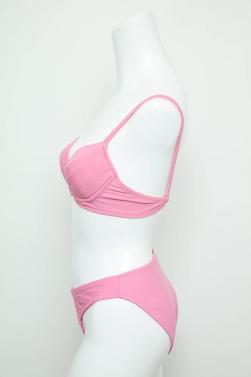 Vintage Chanel 1995 Pink Bikini with CC 4