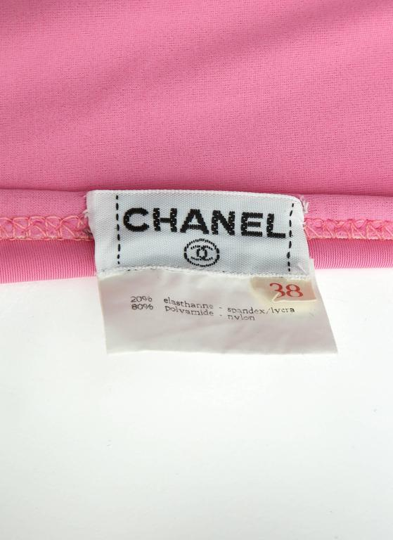 Vintage Chanel 1995 Pink Bikini with CC For Sale 6