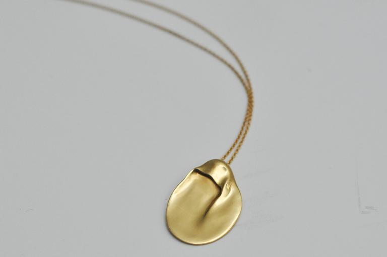 Elsa peretti for tiffany and co yellow gold madonna necklace a vintage quotmadonnaquot necklace by elsa peretti for tiffany amp co aloadofball Image collections