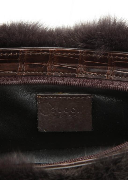 Gucci Fur and Crocodile Clutch Bag 9