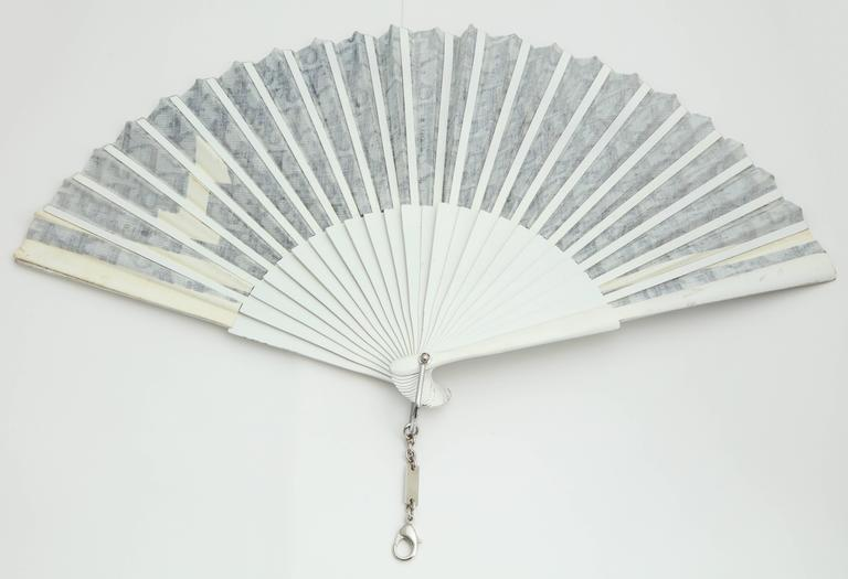 Women's Extremely Rare Christian Dior by John Galliano No.1 Trotter Logo Fan For Sale