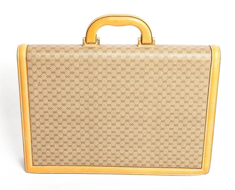 Gucci Monogram Briefcase With Tan Leather Trim s04g4vB