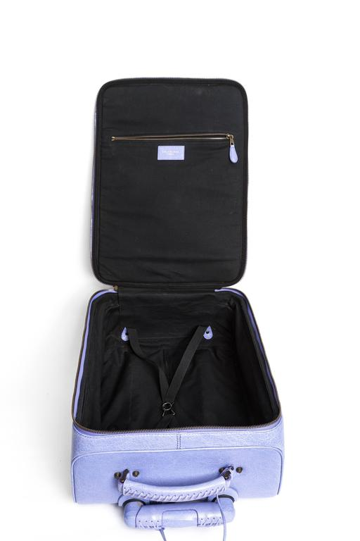 Balenciaga Purple Leather Carry On Suitcase with ...