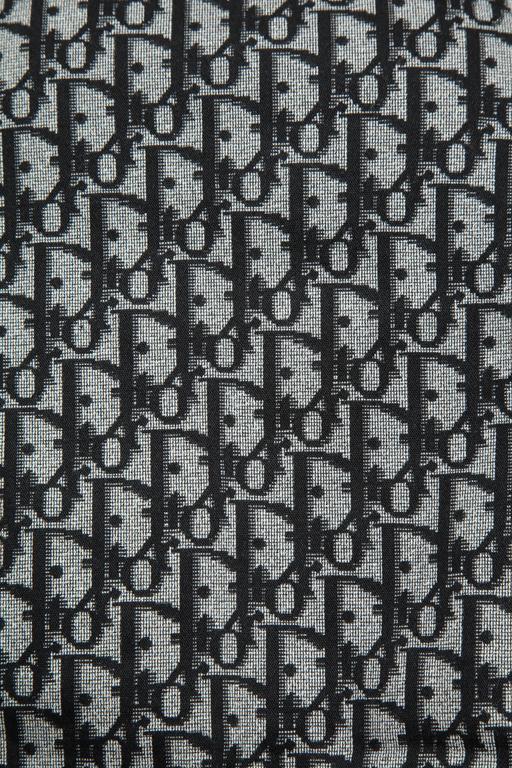 John Galliano for Christian Dior Black Trotter logo Skirt  1