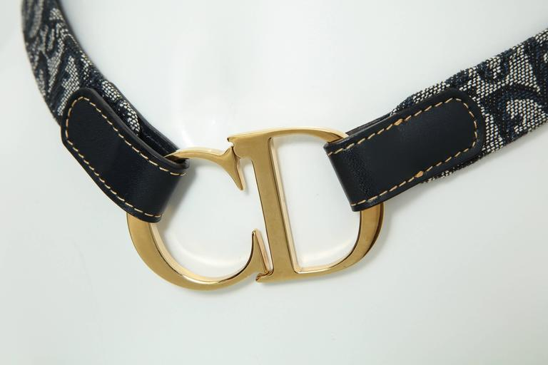 John Galliano for Christian Dior belt with iconic CD Logo.