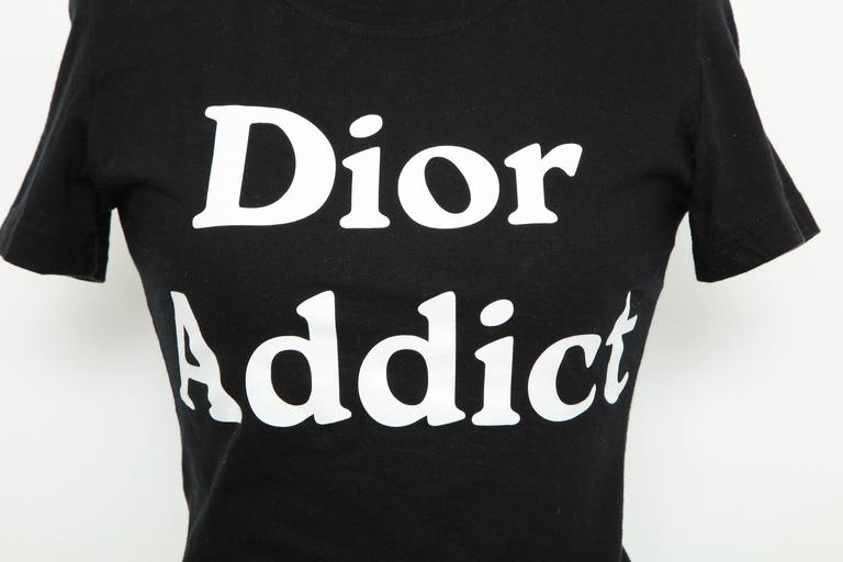 John Galliano for Christian Dior tank top with iconic Dior Addict logo.  French size 40