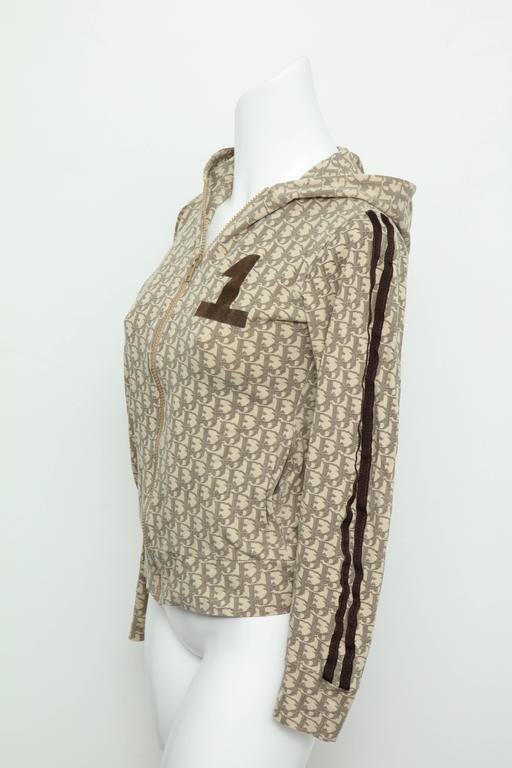 John Galliano for Christian Dior Light Brown Trotter Logo Sweatshirt 4
