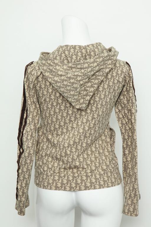 John Galliano for Christian Dior Light Brown Trotter Logo Sweatshirt 6