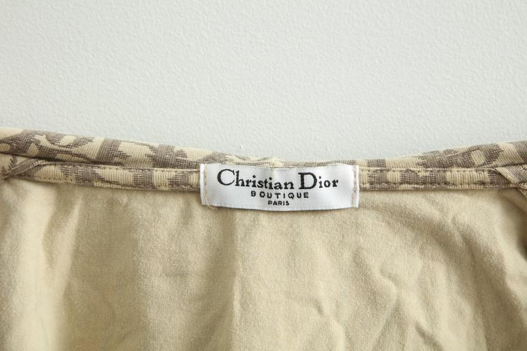 John Galliano for Christian Dior Light Brown Trotter Logo Sweatshirt 7