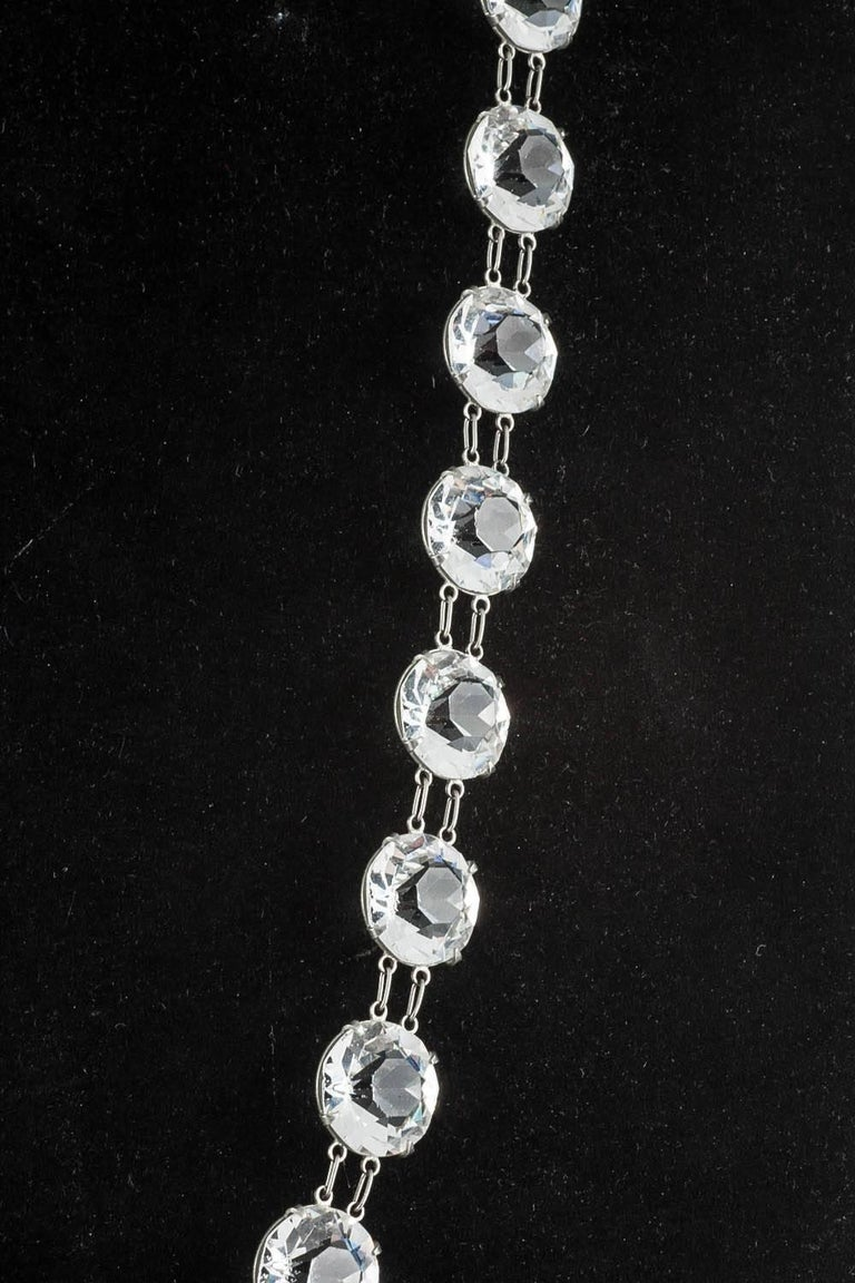 Huge chrome and crystal necklace, 1920s In Excellent Condition For Sale In London, GB
