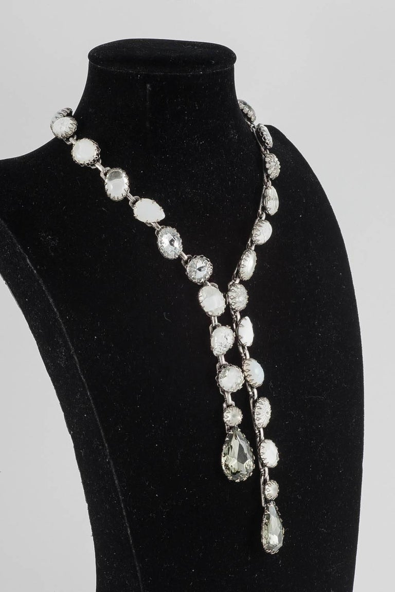 A jewelled sautoir style drop necklace, 1980s 4