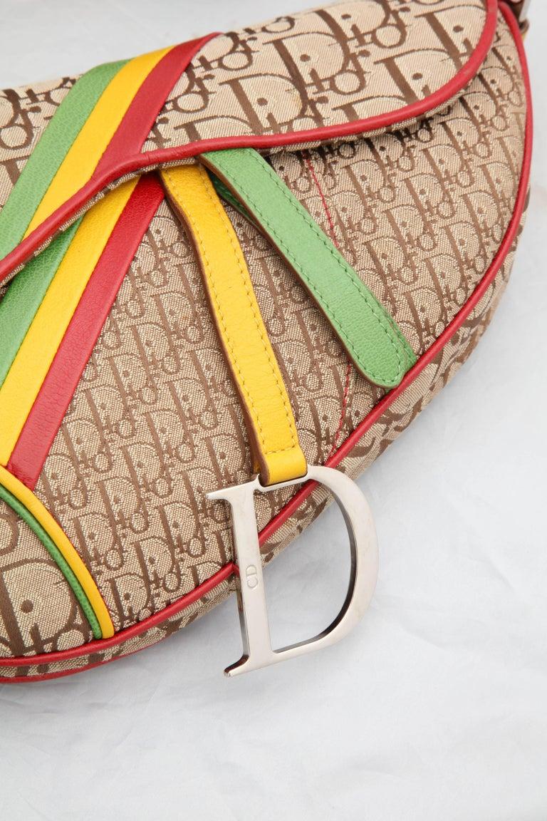 John Galliano For Christian Dior Rasta Collection Saddle