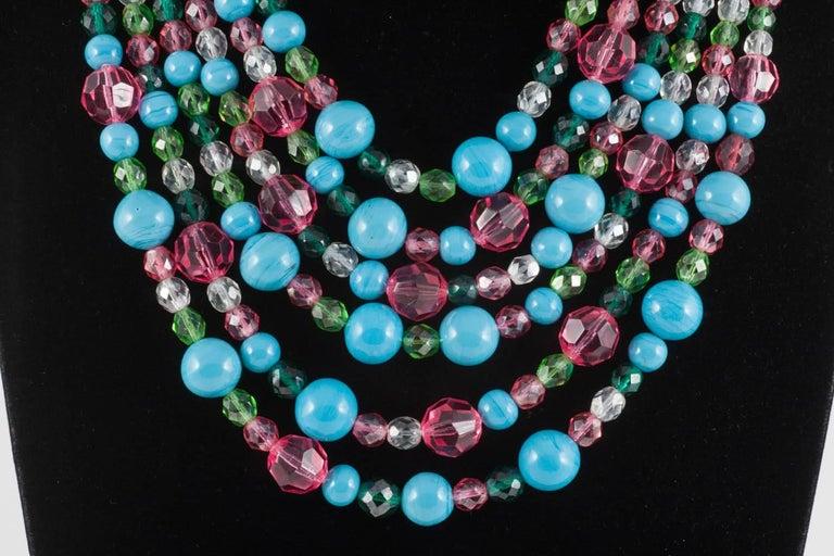 Beautiful multi row and glass bead necklace, Coppola e Toppo, 1950s 2