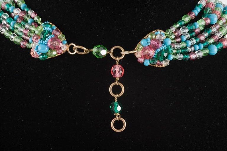 Beautiful multi row and glass bead necklace, Coppola e Toppo, 1950s 4